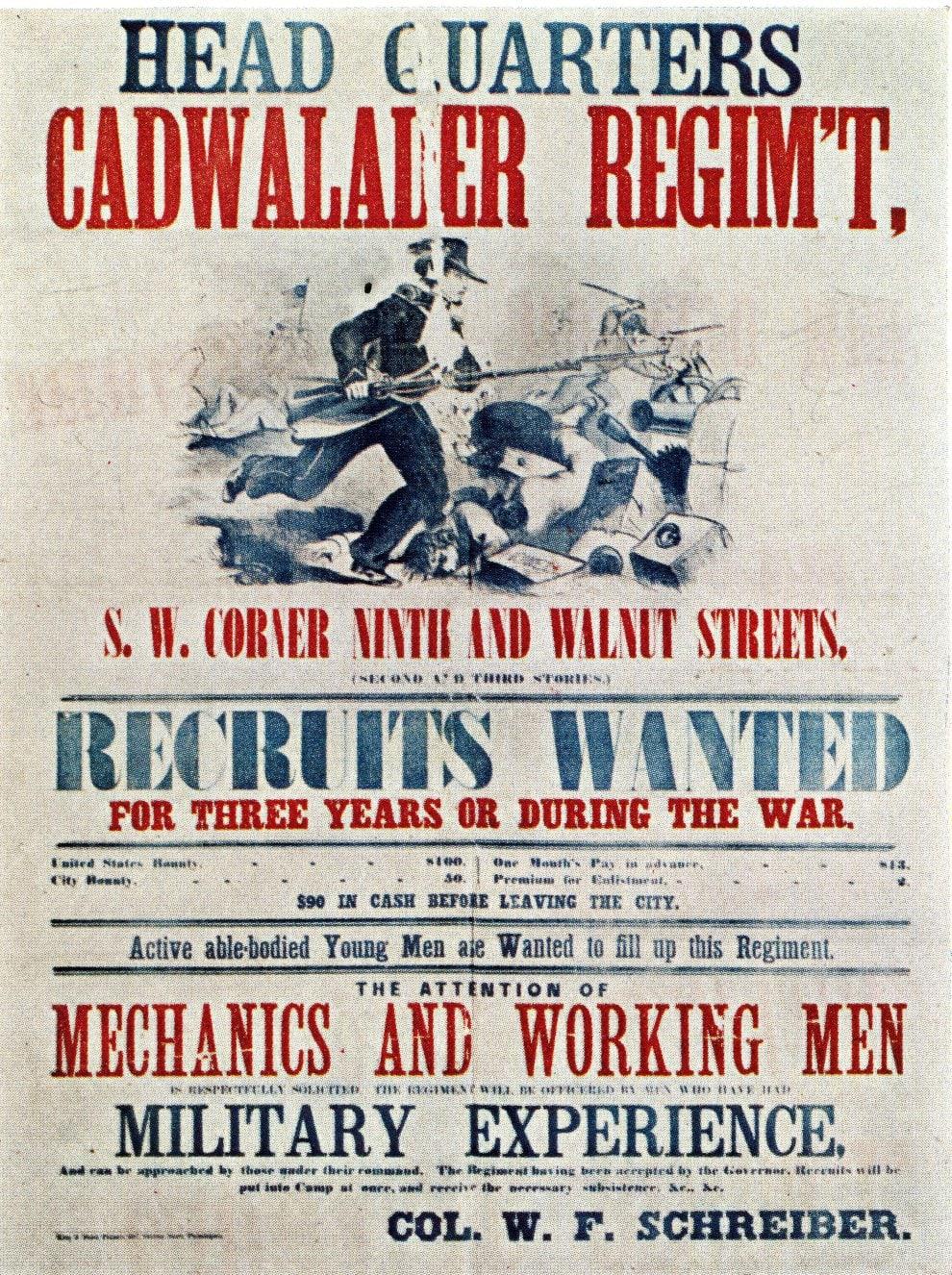 Head quartersCadwalader Regiment - Civil War recruitment