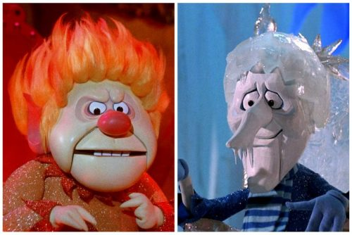 Heat Miser and Snow Miser in Rankin-Bass Christmas special The Year Without a Santa Claus