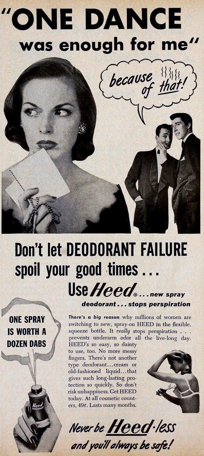 Heed deodorant from 1950