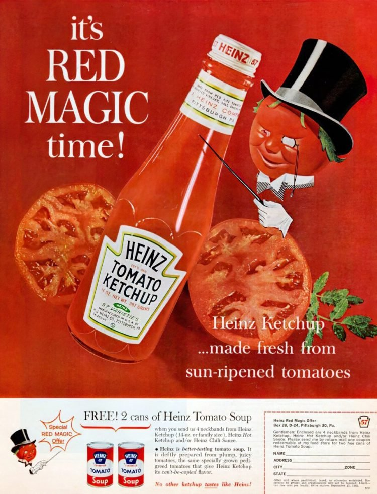 Heinz tomato ketchup from 1962