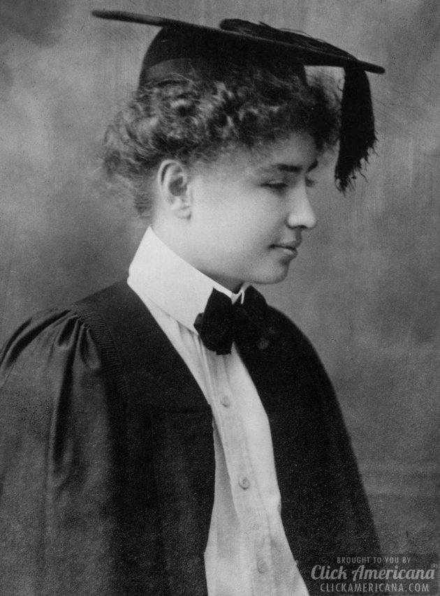 Helen Keller graduates from Radcliffe 1904