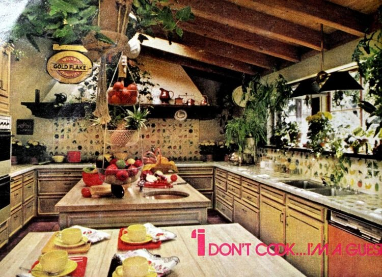 Helen Reddy - California kitchen decor from the 70s