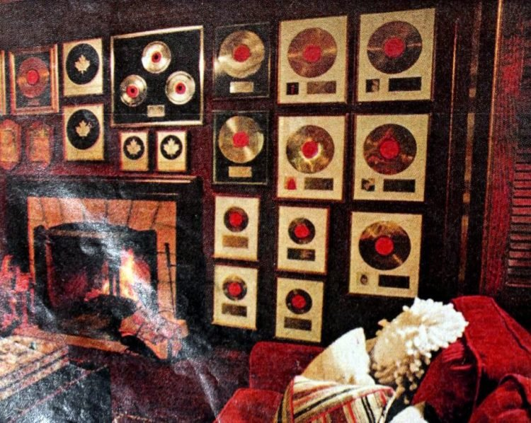 Helen Reddy's gold and platinum records in 1975