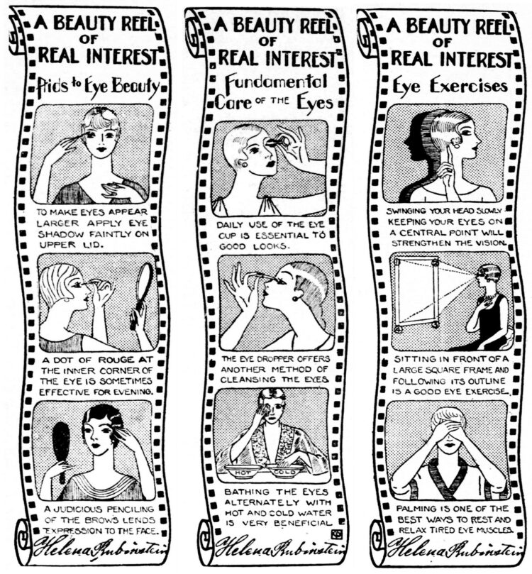 Helena Rubenstein eye beauty tips from the 1920s