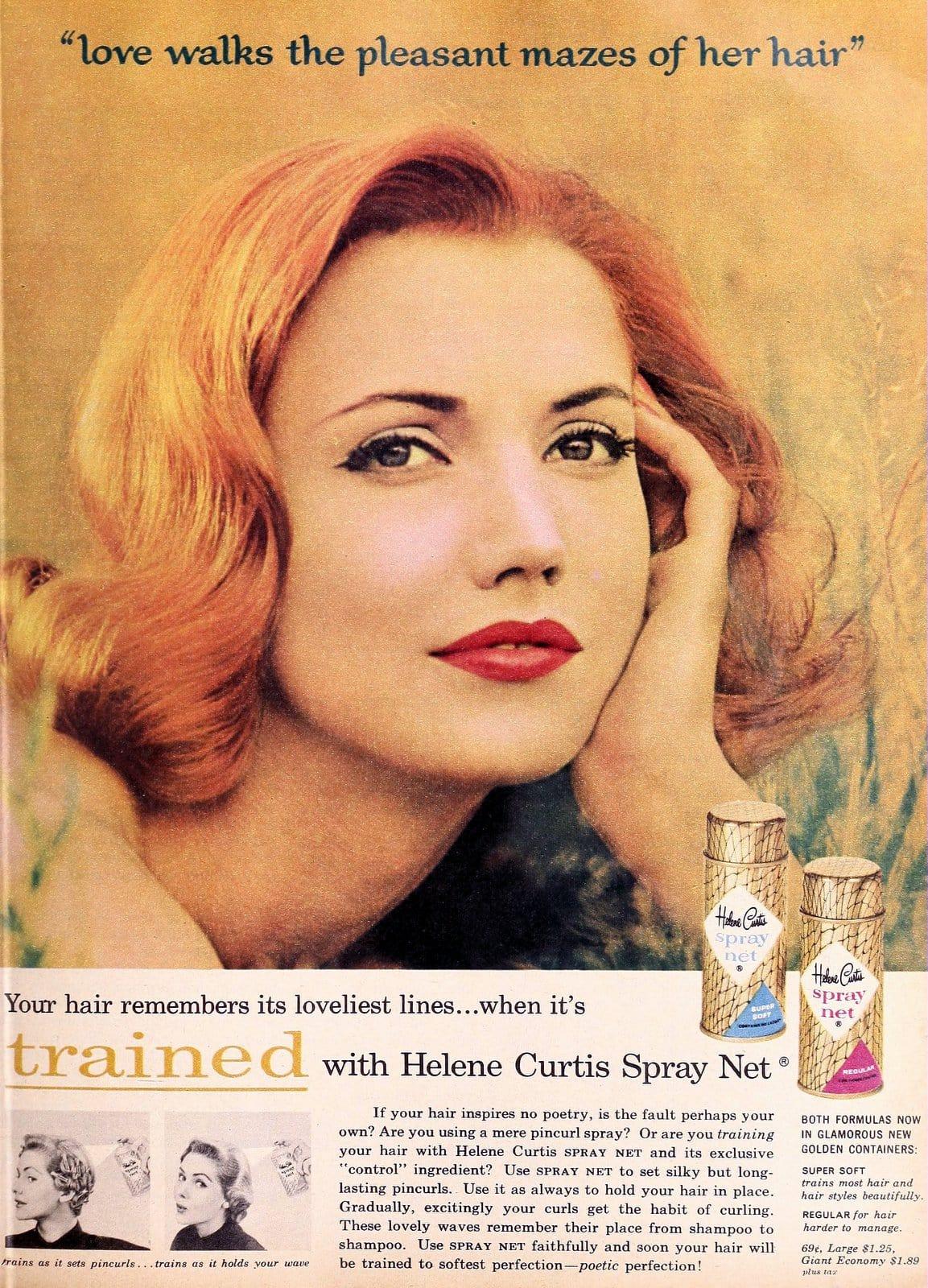 Helene Curtis Spray Net vintage 50s hair spray (1957)