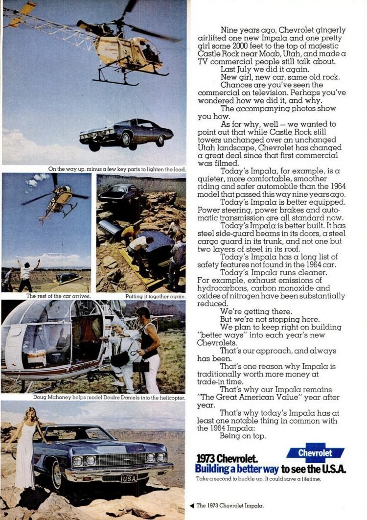 Helicopter for a 1973 Chevrolet Impala