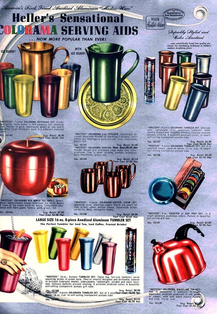 Heller Colorama serving aids - aluminum cups