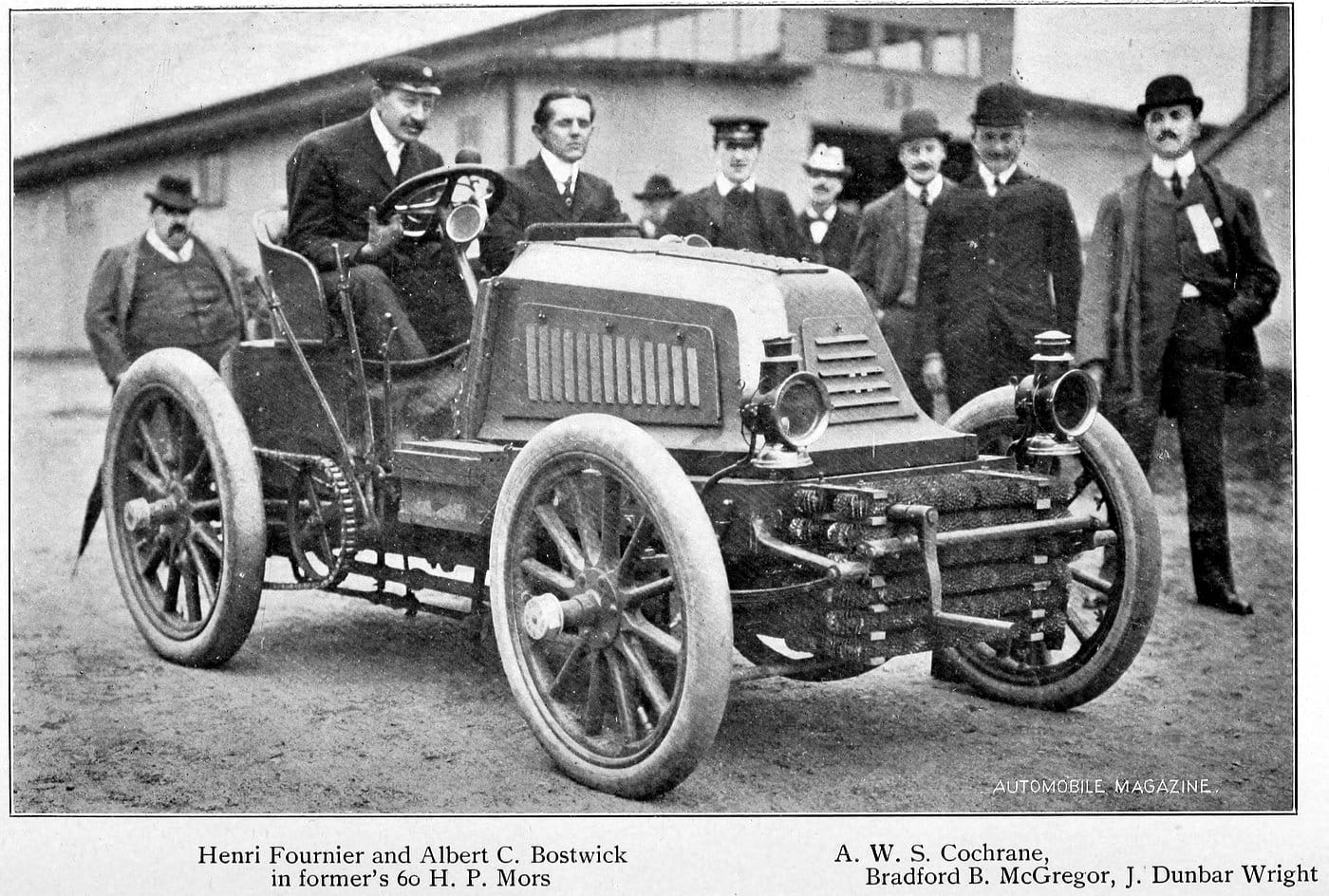 Henri Fournier and company in 60 HP Mors (1902)