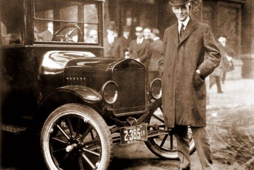 Henry Ford with a car