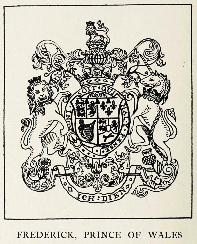 Heraldry - Frederick Prince of Wales - Unicorn on crest
