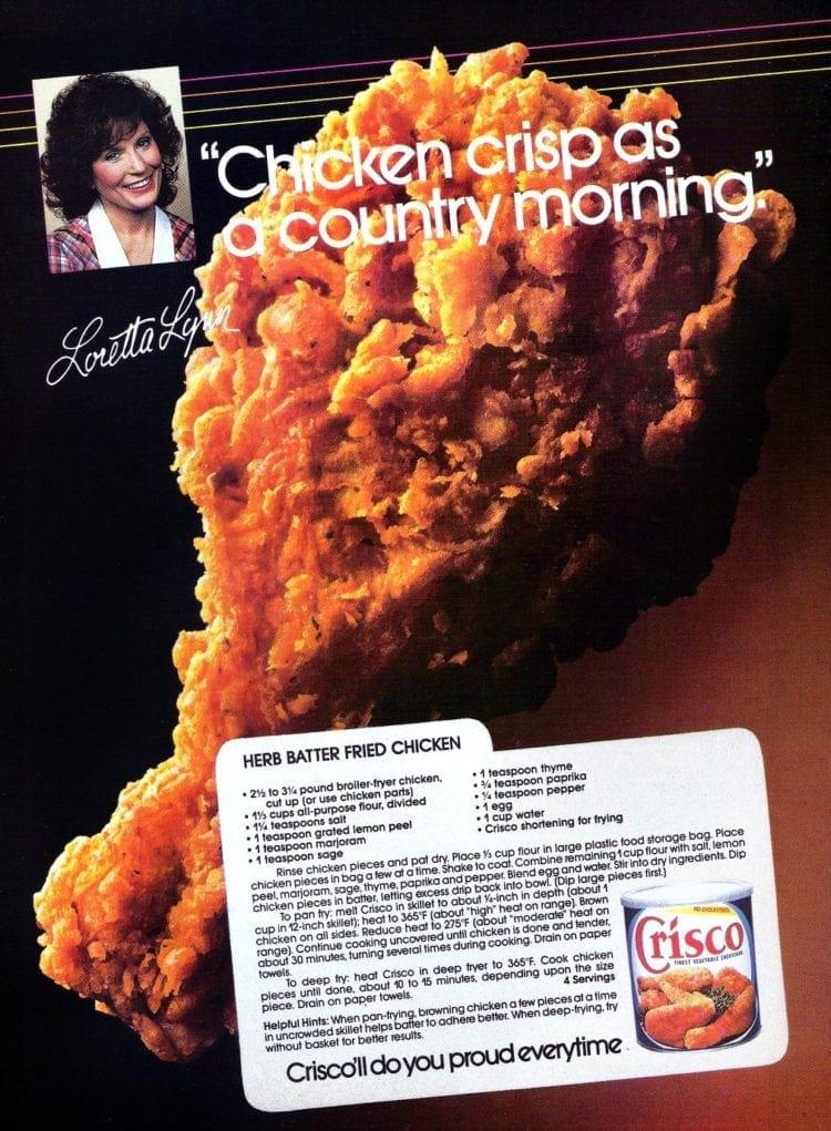 Herb batter fried chicken recipe 1985