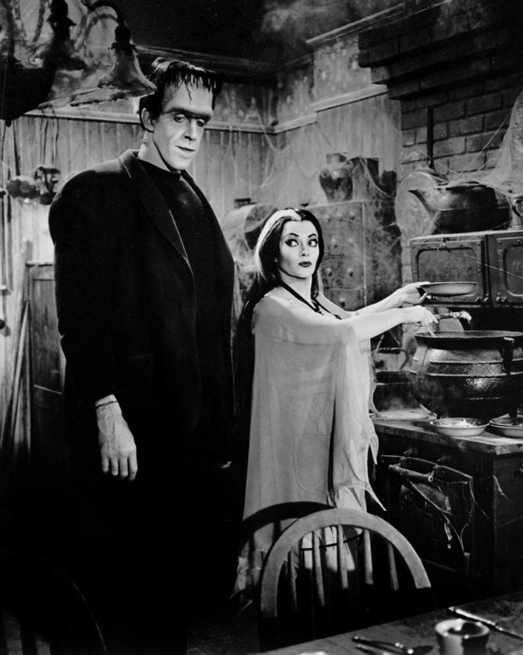 Herman and Lily - Fred Gwynne Yvonne DeCarlo The Munsters 1964