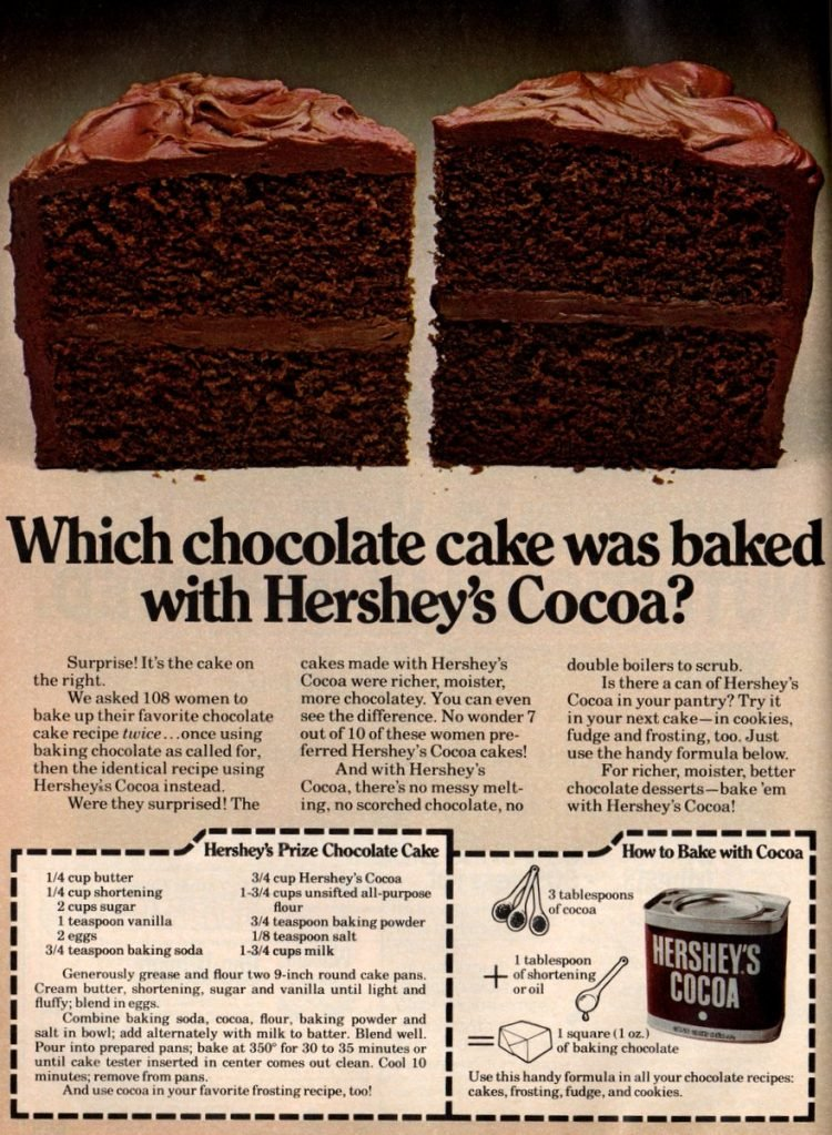 7 Classic Hershey S Chocolate Cake Recipes From The 70s Click Americana