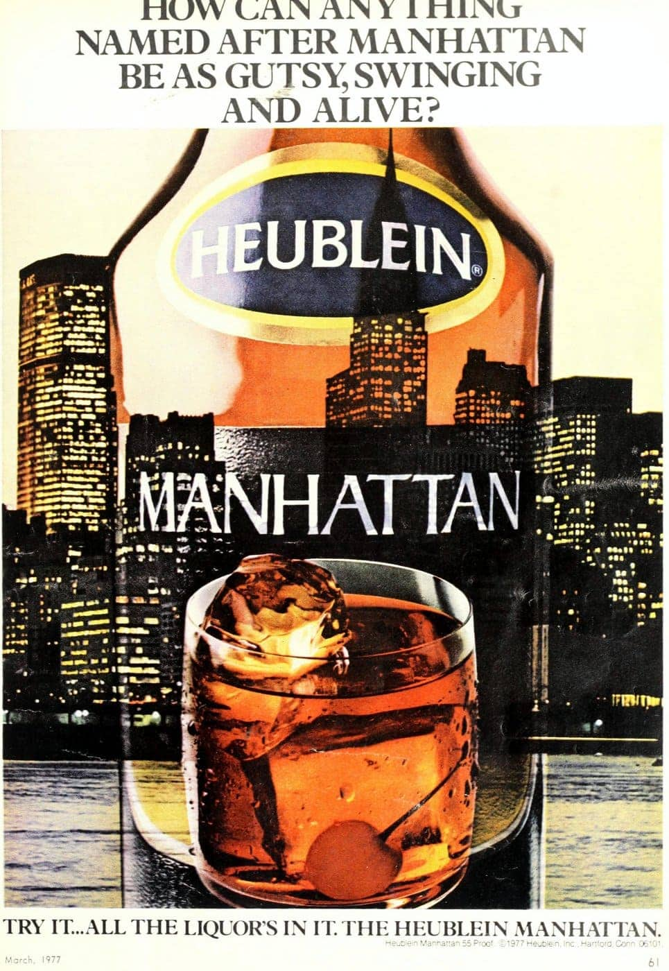 Heublein Manhattan drink mix (1977)