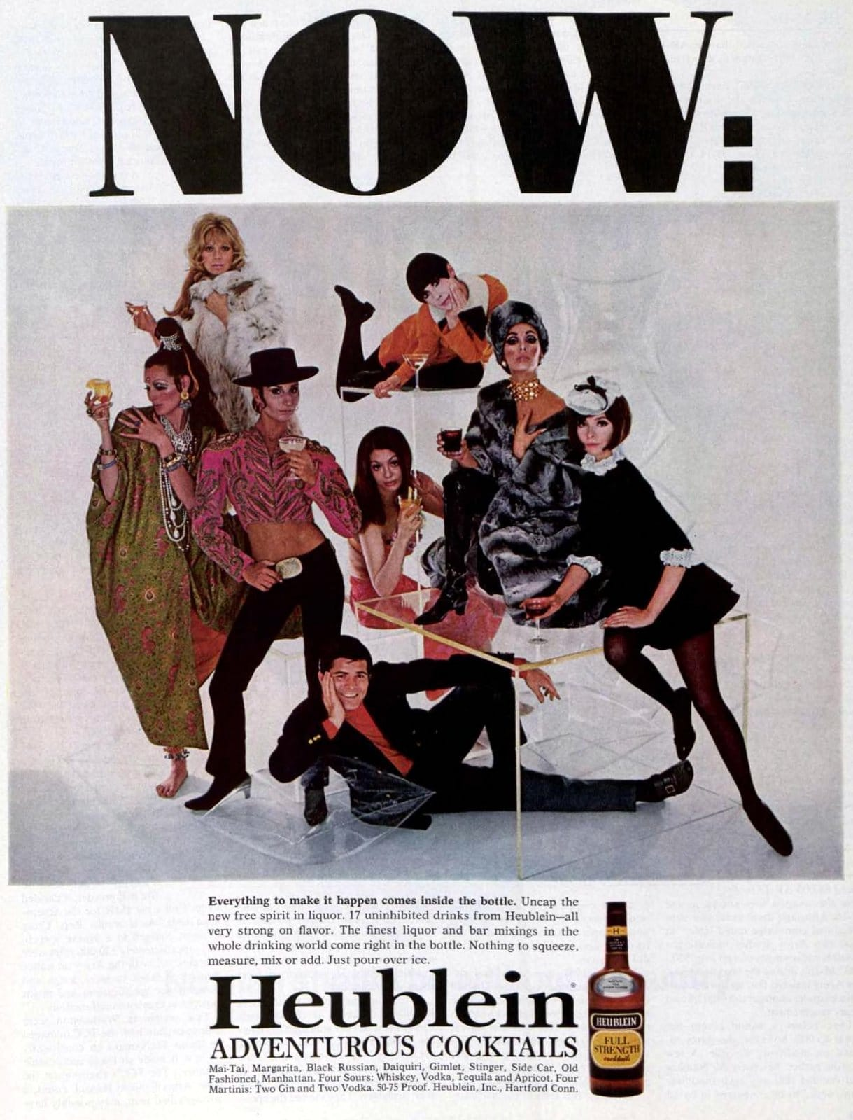 Heublein adventurous retro ready-made cocktail mixes (1968)