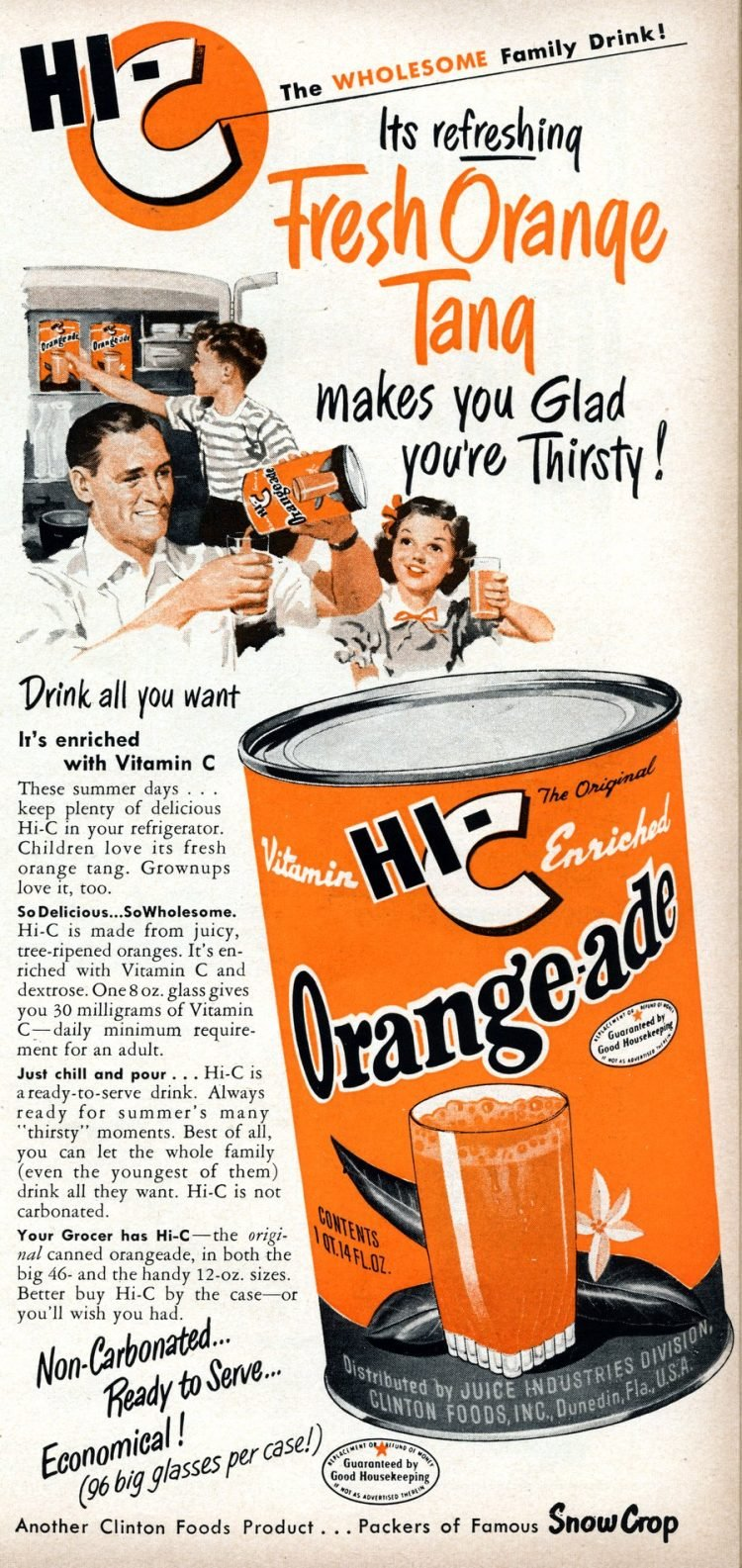 Hi-C Orange-ade drink from 1950