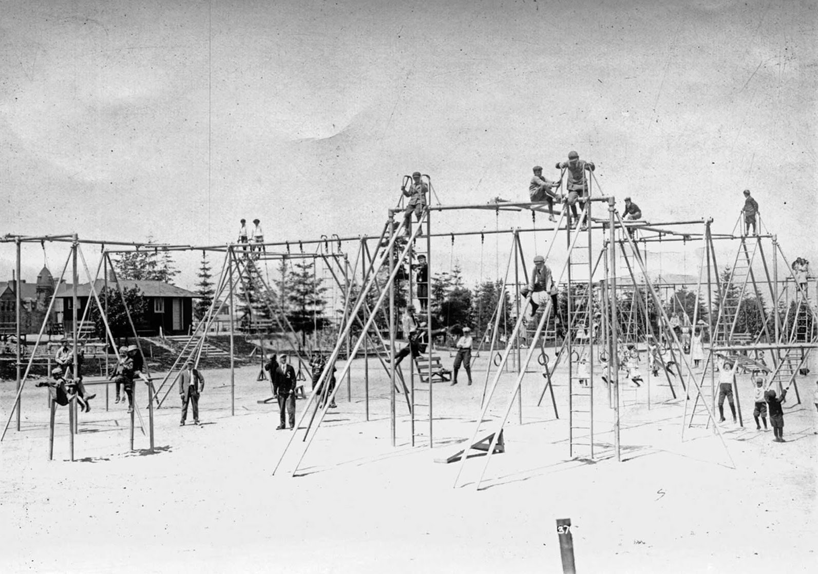 Hiawatha Playground, 1912. From the Seattle Municipal Archives Collection.