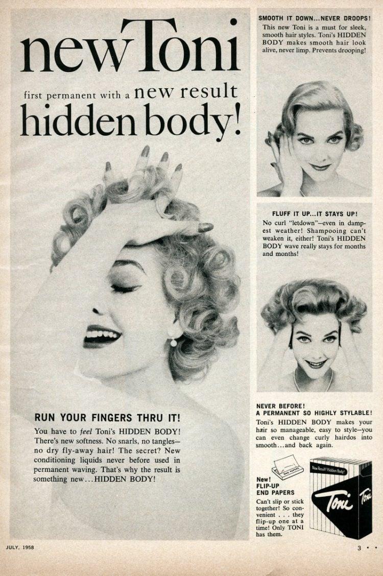 Hidden Body Toni perm from 1958