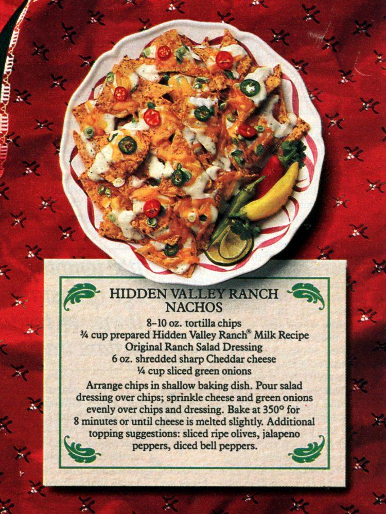 Hidden Valley Ranch Nachos recipe 1987