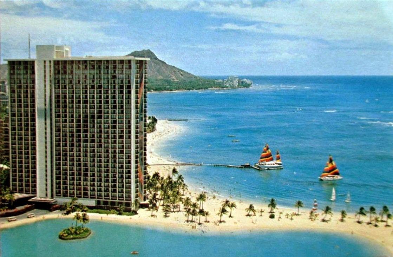 Hilton Hawaiian Village vintage postcard