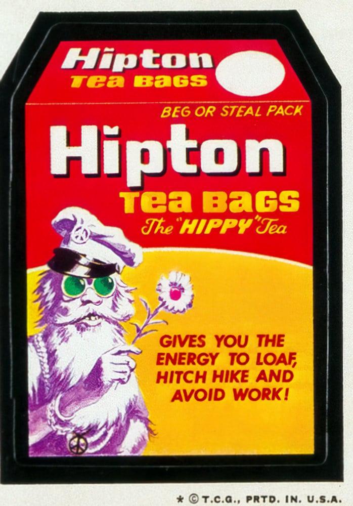 Hipton tea bags - Vintage 1970s Wacky Packs (1973)