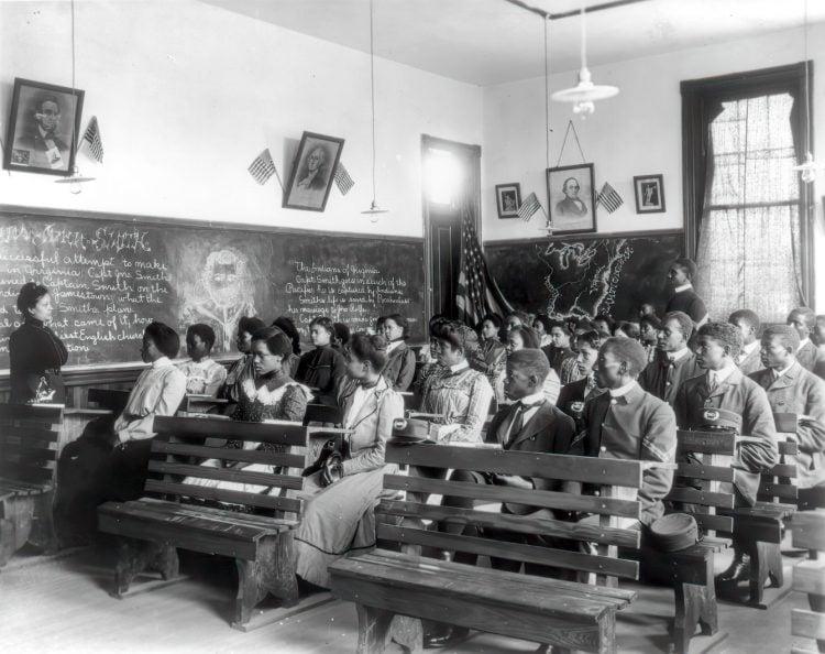 History class, Tuskegee Institute, Tuskegee, Alabama 1902