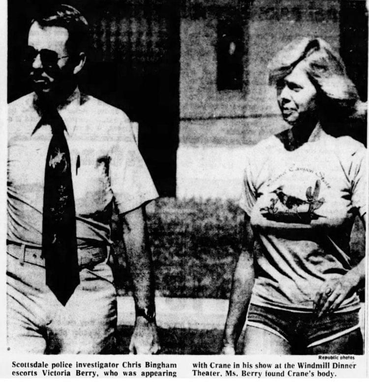 Hogan's Heroes actor Bob Crane murdered - Actress Victoria Berry - 1978