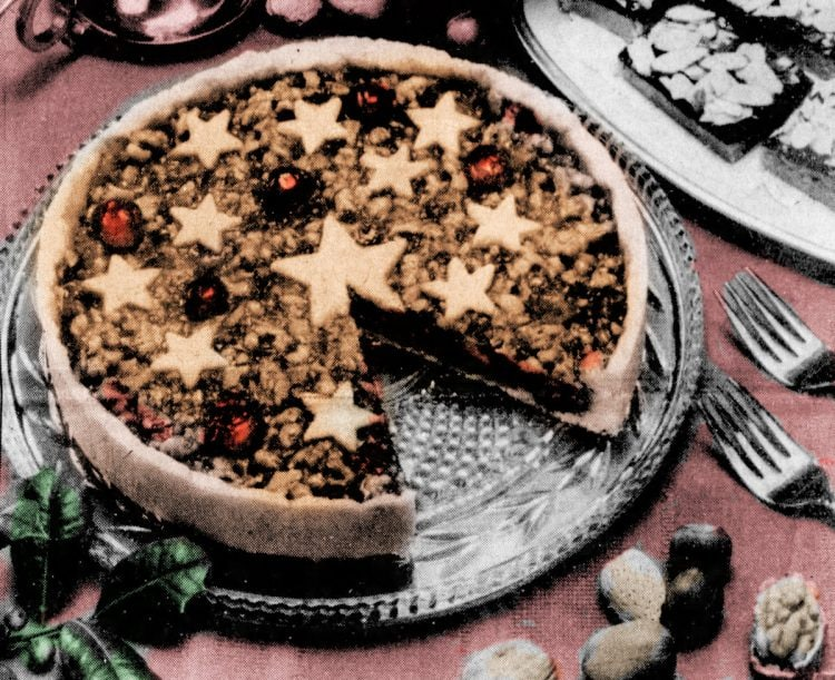Holiday cherry coffee cake - vintage recipe