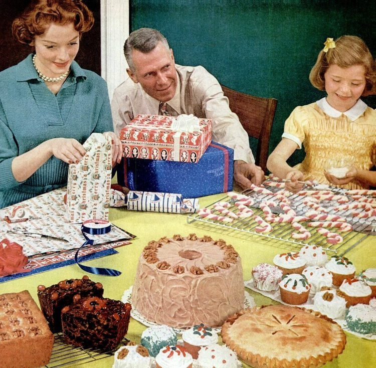 Holiday fun and baking from 1953