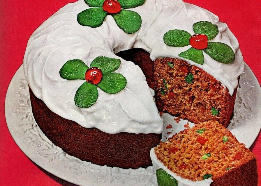 Holiday tomato soup fruitcake