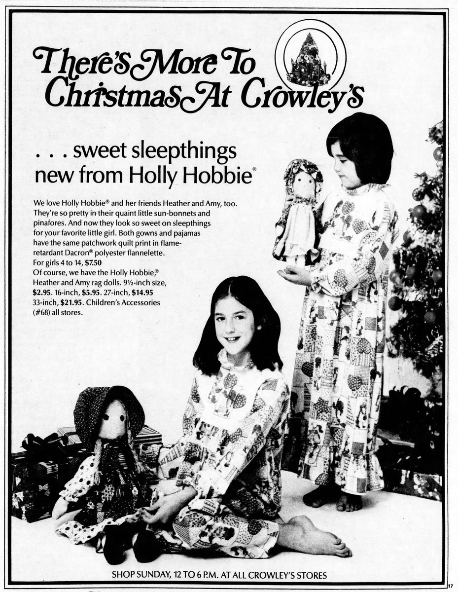 Hollie Hobbie dolls, nightgowns, and pajamas (1976)