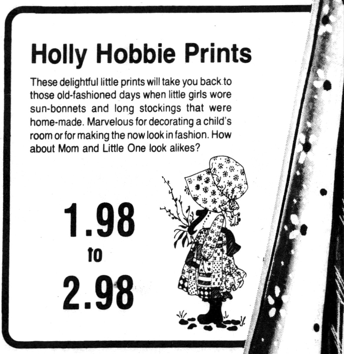 Hollie Hobbie print fabric (1974)