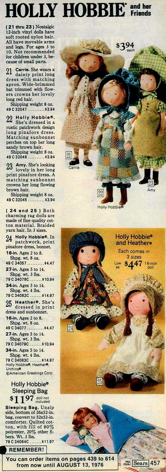 Hollie Hobbie toys at Sears 1975