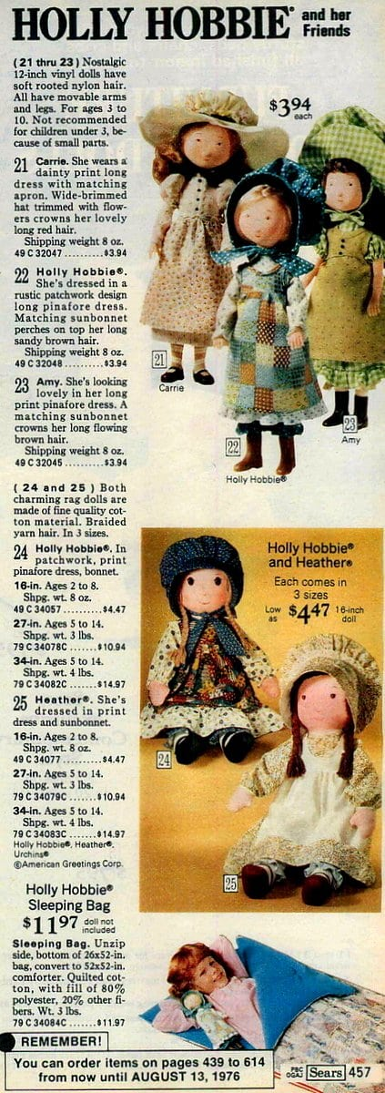 Holly Hobbie and her friends - Sears (1975)