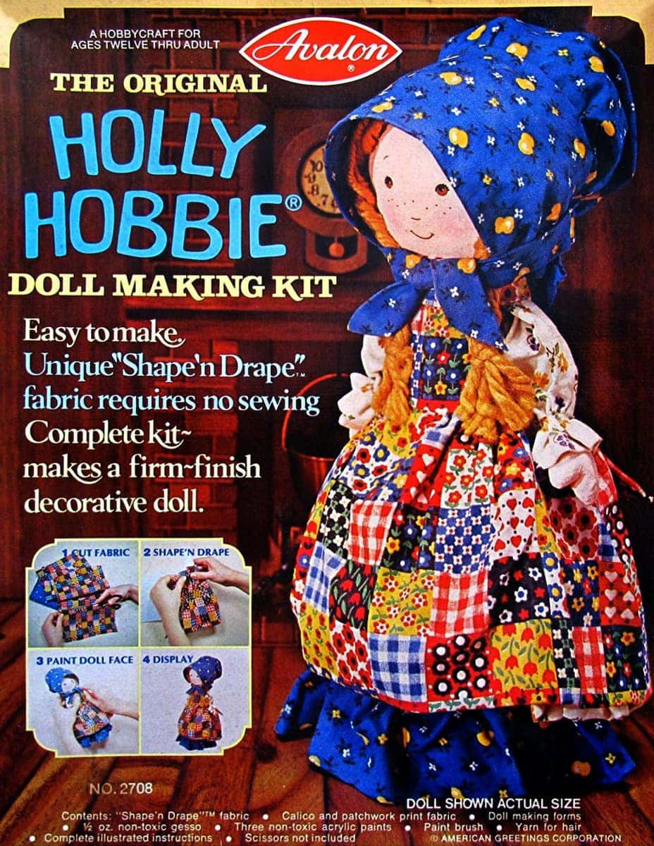 The original Holly Hobbie doll making kit by Avalon (1976)