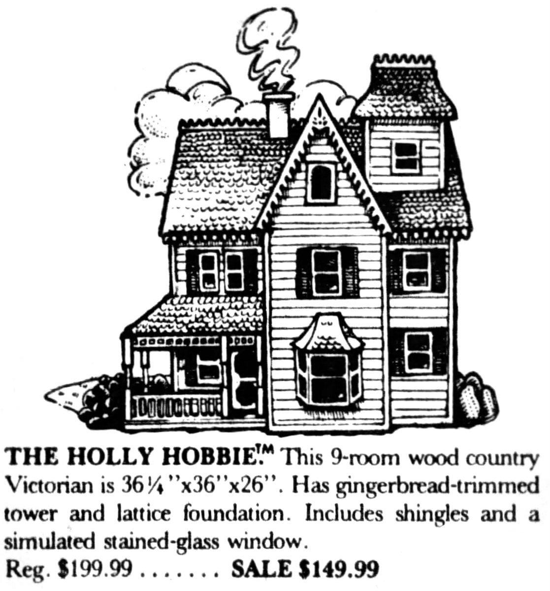 Holly Hobbie Victorian dollhouse (1981)