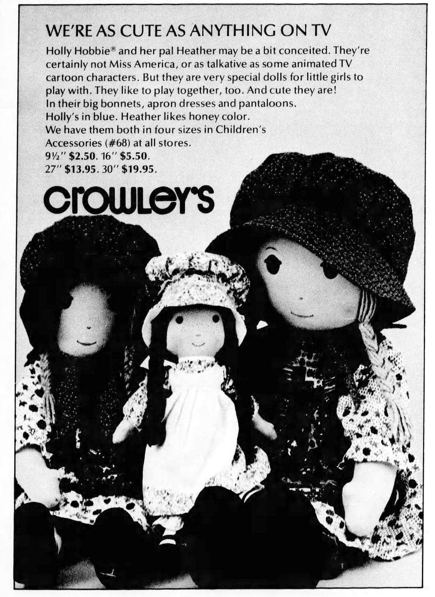 Holly Hobbie and Heather dolls (1975)