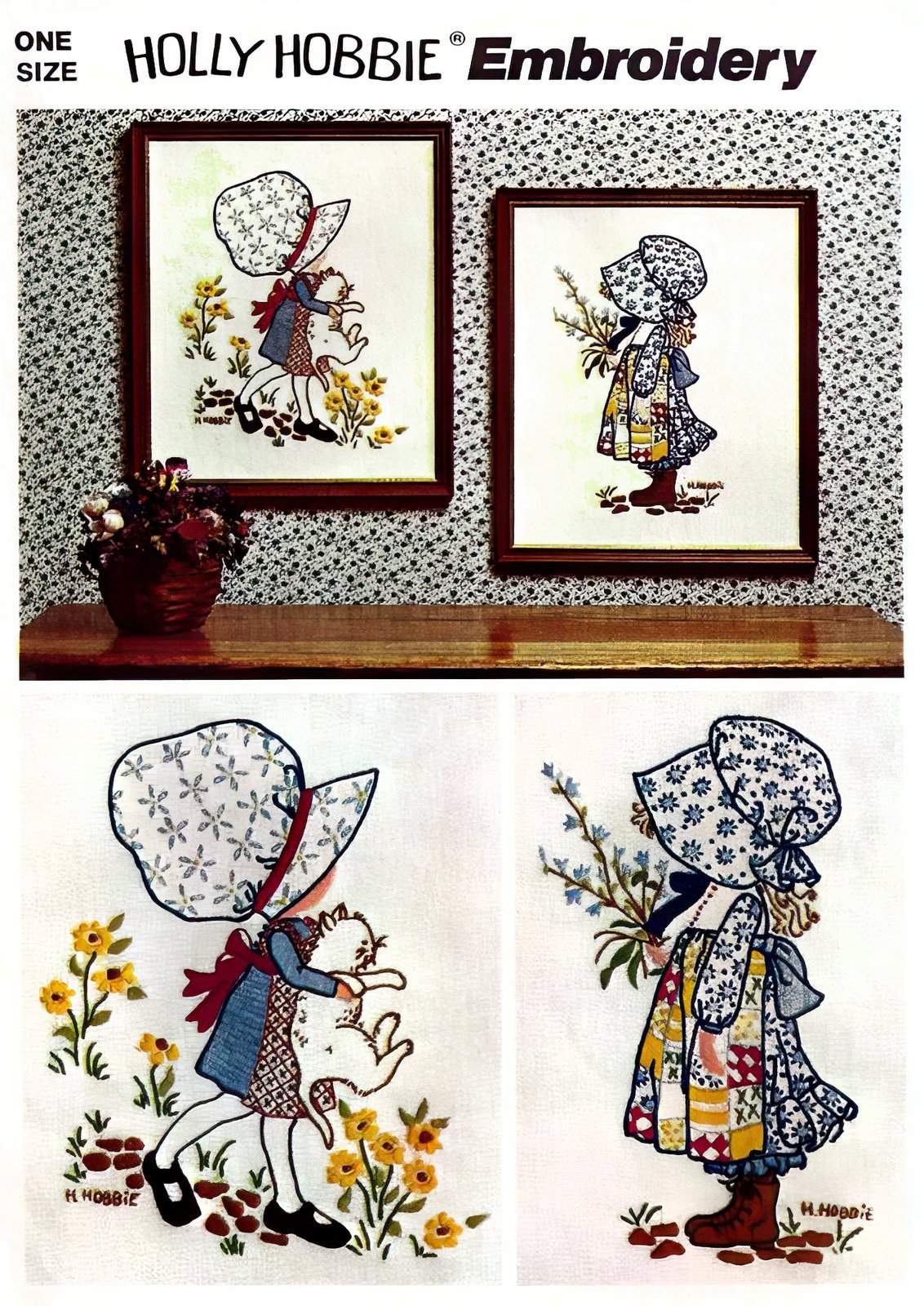 Holly Hobbie embroidery pattern - Vintage art