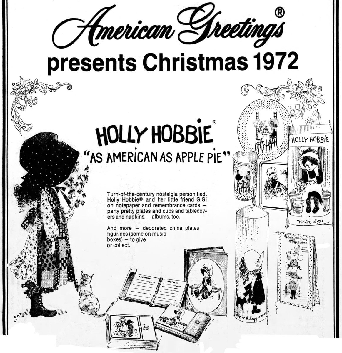 Holly Hobbie Christmas gifts (1972)
