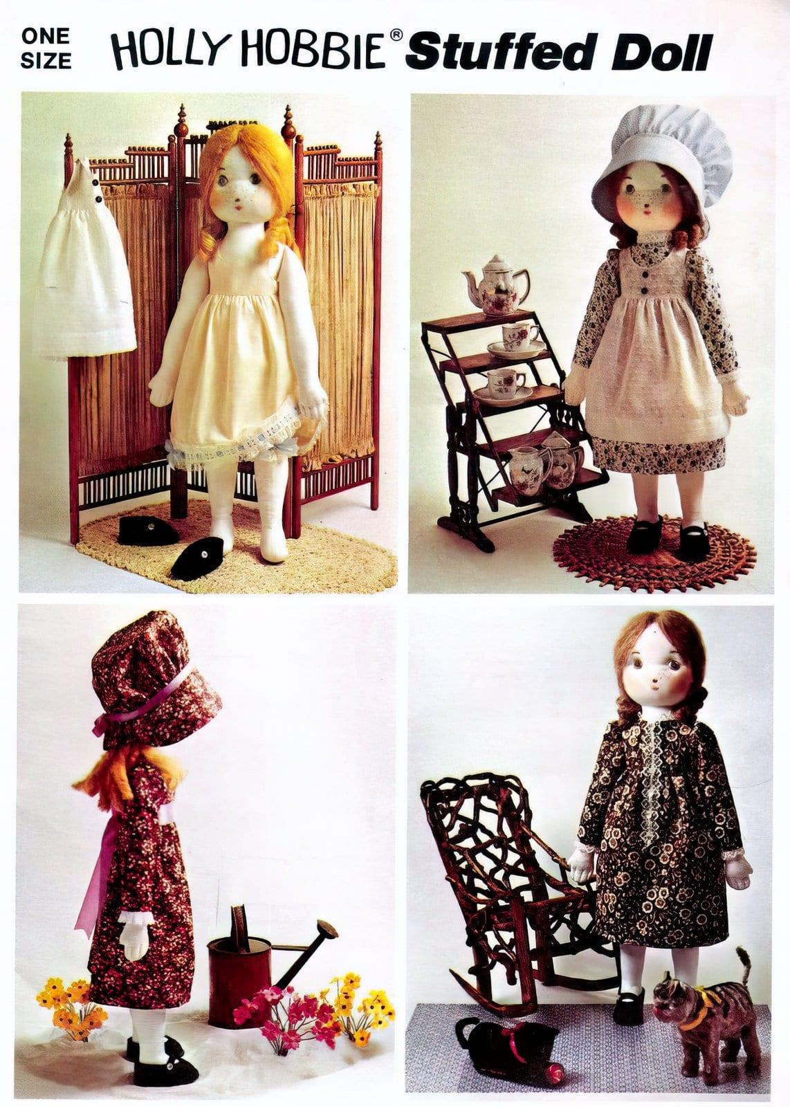 Holly Hobbie stuffed doll Simplicity pattern 1973