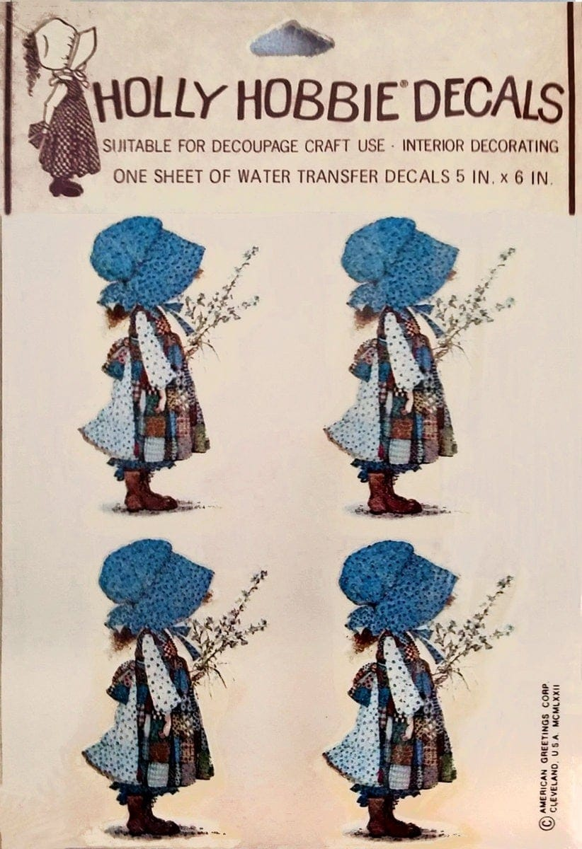Holly Hobbie wall decals (1972)