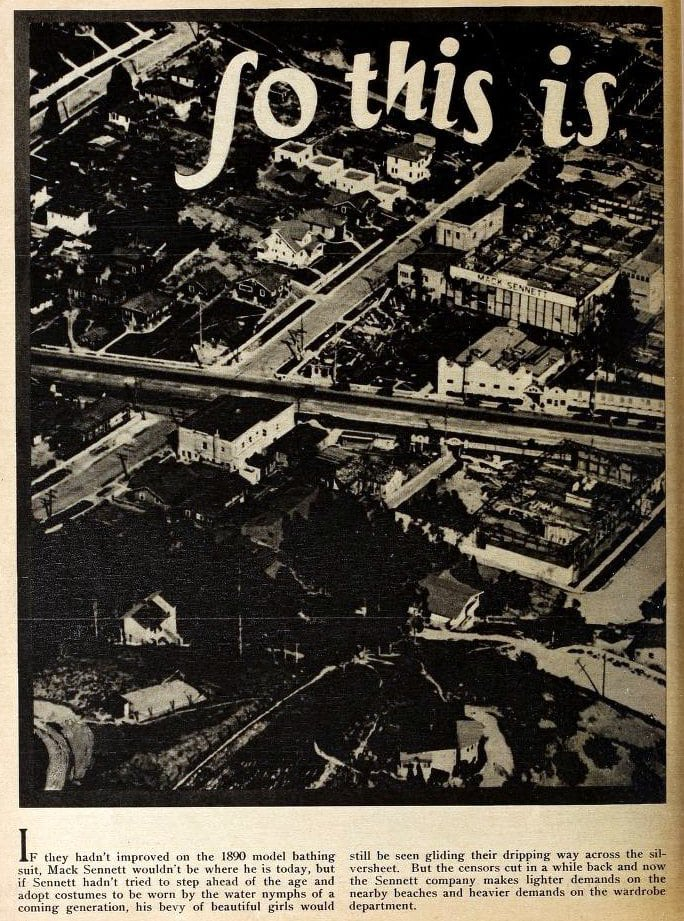 Old Hollywood: The movie town, as seen from the sky during the 1920s