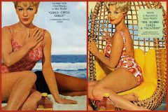 Hollywood starlets shone for Coppertone suntan lotion in the sixties