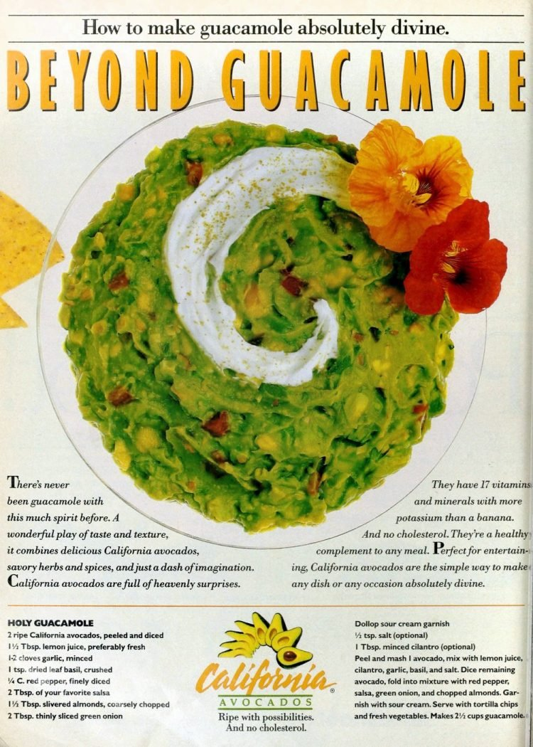 Holy guacamole! An 80s recipe for this divine dip