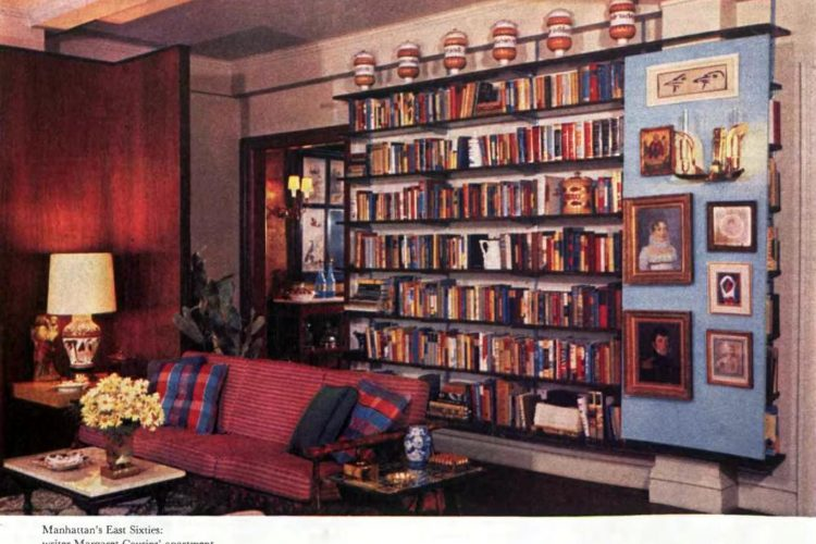 Home bookshelves from 1957
