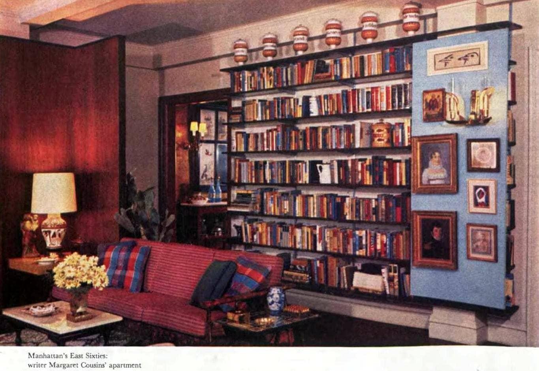 Home bookshelves from 1957