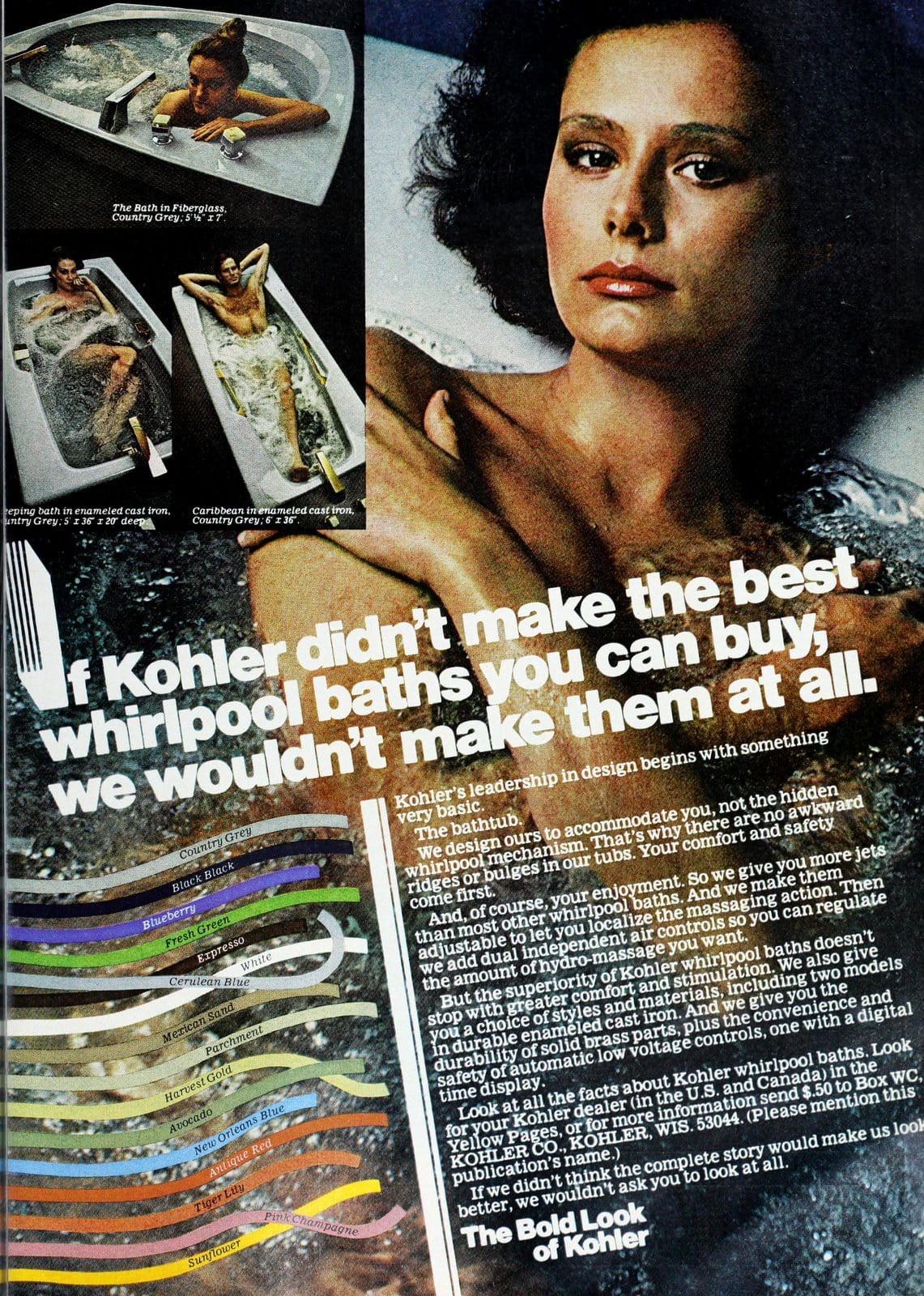 Home decor - Colorful Kohler whirlpool baths (1978)