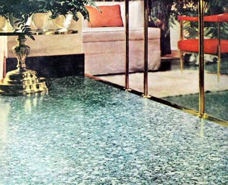 Home decor - vintage 50 vinyl flooring