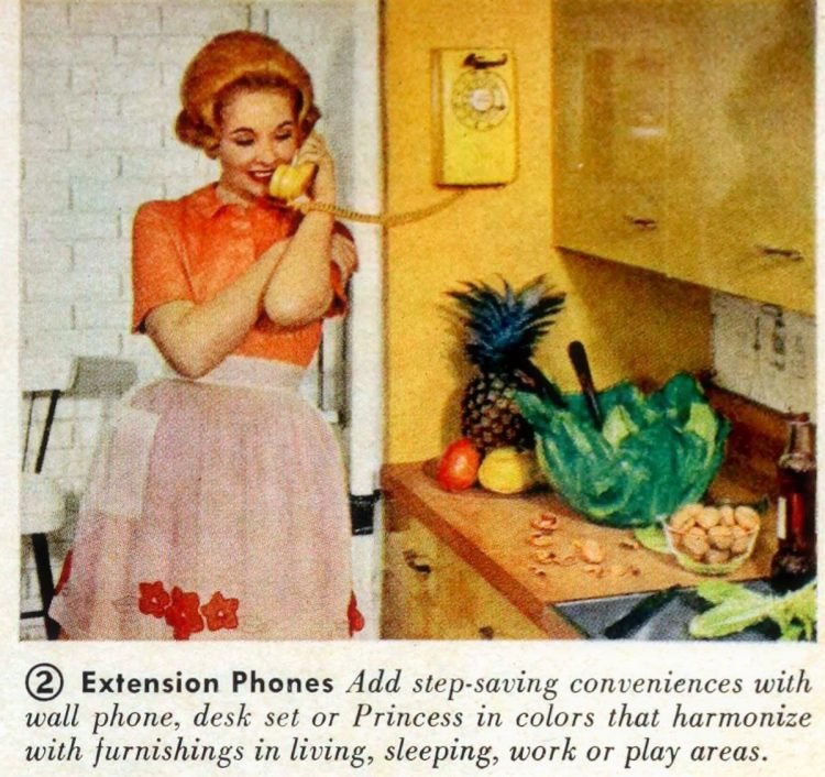 Home extension phones from 1961