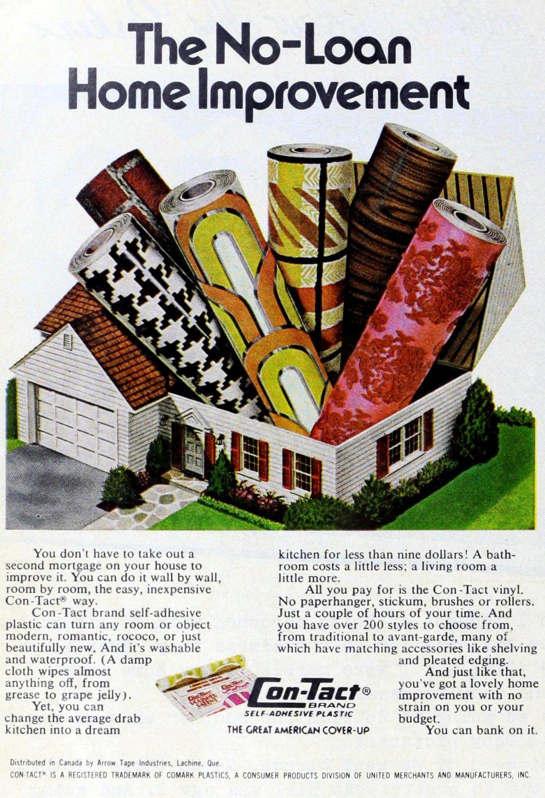 Home improvement - Contact paper seventies